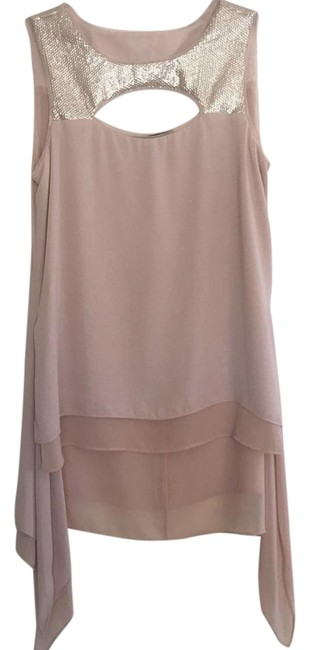 Item - Sleeveless Cutout Blouse Blush Pink Top