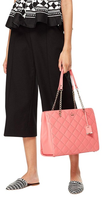 Item - Emerson Place Phoebe Quilted Warm Guava Leather Shoulder Bag