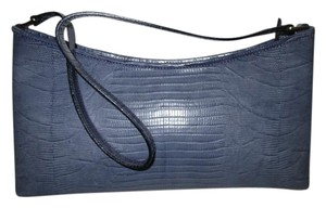 Talbots Leather Periwinkle Croc Satchel in Lavender Blue