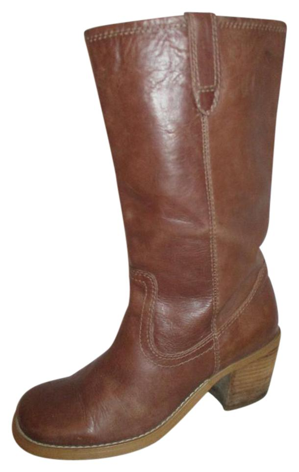 Steve Campus Madden Brown Logan Leather Campus Steve Boots/Booties a60db0