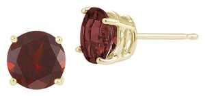 Apples of Gold Garnet Stud Earrings, 14K Yellow Gold