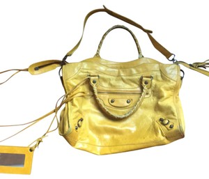 Balenciaga Satchel in mustard yellow