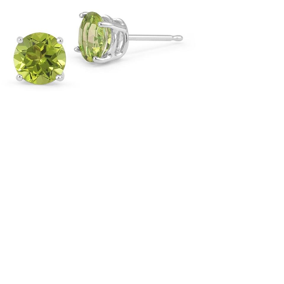 Les Of Gold White Green Peridot Stud 14k Earrings 44 Off Retail
