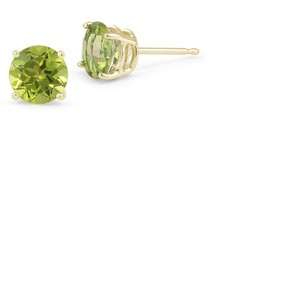 Apples of Gold Peridot Stud Earrings, 14K Yellow Gold