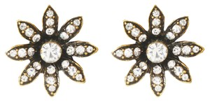 Amrita Singh Amrita Singh Antique gold plated flower earrings with Austrian crystals