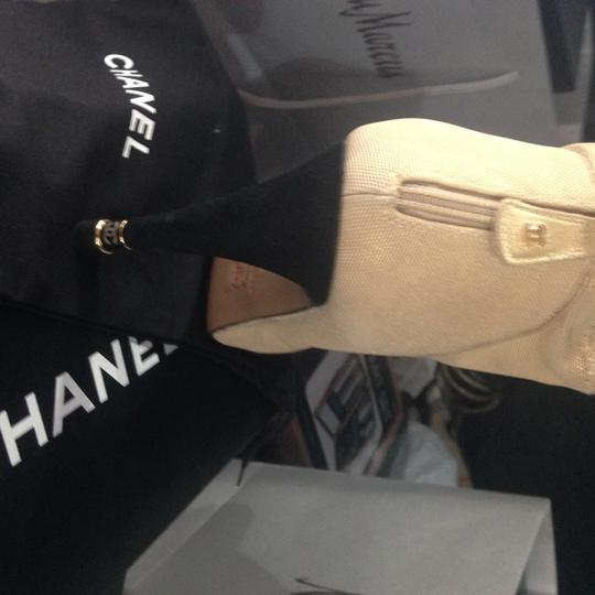 Chanel beige and black Boots Image 1