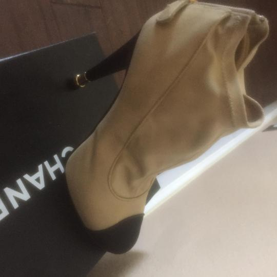 Chanel beige and black Boots Image 4