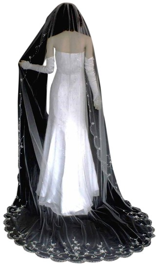 Preload https://img-static.tradesy.com/item/22000391/champagne-long-one-tier-scallop-cathedral-with-beads-bridal-veil-0-1-540-540.jpg
