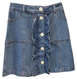 Ganni Mini Skirt Denim