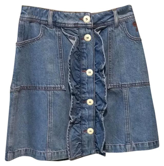 Preload https://img-static.tradesy.com/item/22000463/ganni-denim-button-up-miniskirt-size-2-xs-26-0-1-650-650.jpg