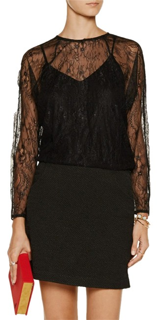 Preload https://item1.tradesy.com/images/maje-black-lace-jacquard-and-jersey-short-cocktail-dress-size-4-s-22000575-0-1.jpg?width=400&height=650