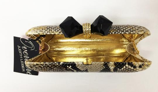 Judith Leiber Python Embossed Concave Vanessa Overture Multicolor Clutch