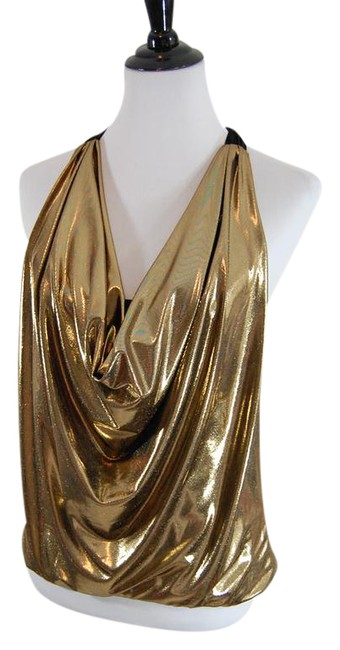 Preload https://item5.tradesy.com/images/alice-olivia-gold-sexy-and-fun-tie-halter-top-size-12-l-22000634-0-3.jpg?width=400&height=650