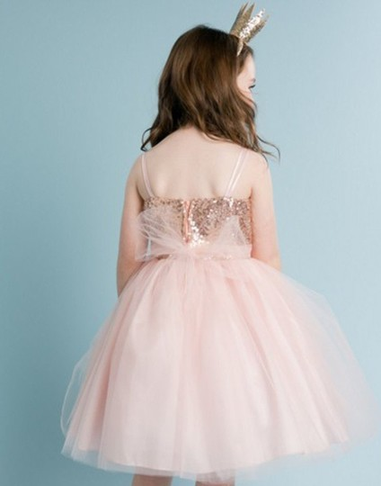 Blush Birthday Pageant Party Formal Bridesmaid/Mob Dress Size 4 (S)