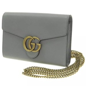 10f9433ff Added to Shopping Bag. Gucci Shoulder Bag. Gucci Marmont Wallet On A Chain  Woc Grey Leather ...