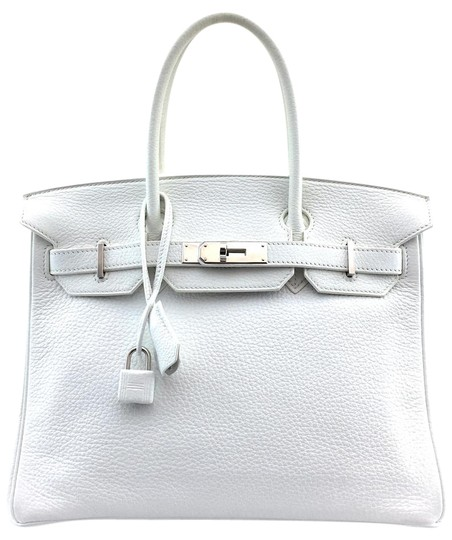 Preload https://item1.tradesy.com/images/hermes-birkin-clemence-30-cm-tote-shw-13672-white-leather-satchel-22000750-0-1.jpg?width=440&height=440