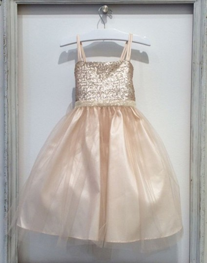Blush Birthday Pageant Party Formal Bridesmaid/Mob Dress Size 12 (L)