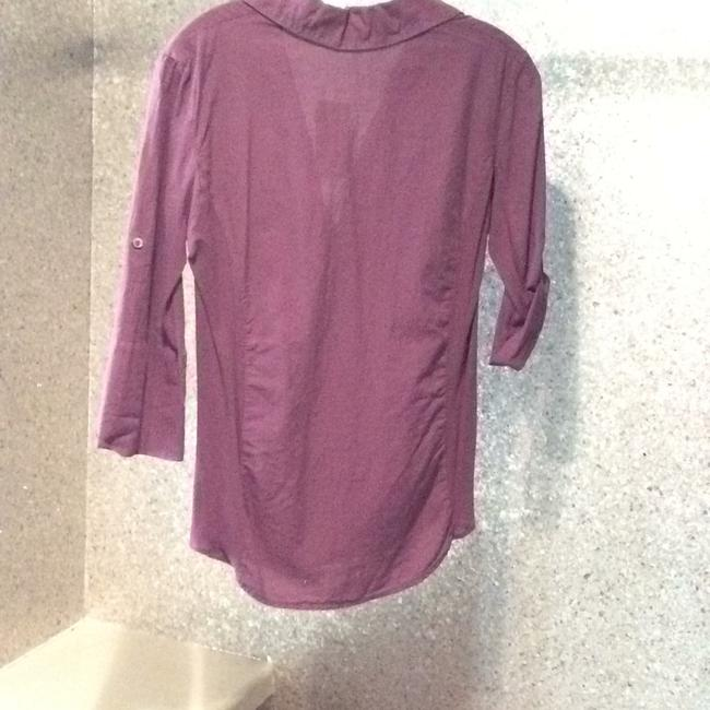 James Perse Button Down Shirt Purple
