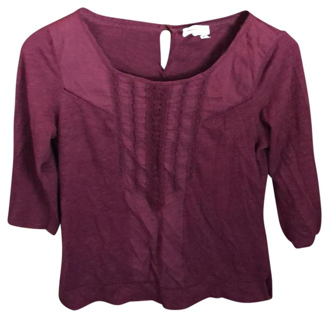 Preload https://img-static.tradesy.com/item/22000850/anthropologie-maroon-tee-shirt-size-4-s-0-1-650-650.jpg