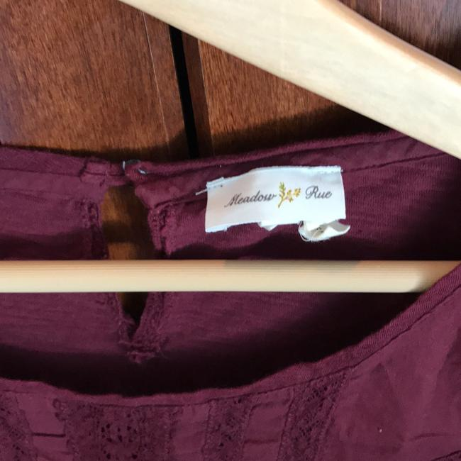 Anthropologie T Shirt maroon