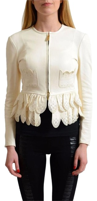Preload https://item2.tradesy.com/images/dsquared2-white-lamb-leather-full-zip-women-s-basic-size-4-s-22000896-0-1.jpg?width=400&height=650