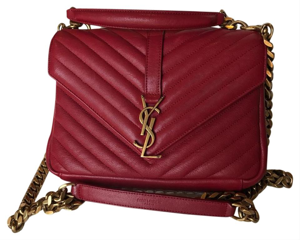 30c21dcd1a Saint Laurent Small College Red Cross Body Bag on Tradesy