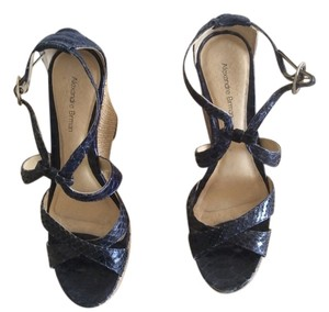 Alexandre Birman Navy Wedges