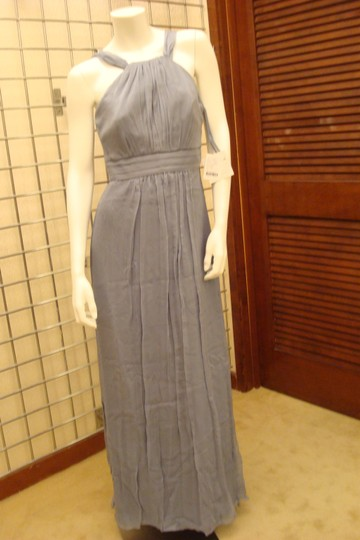 Amsale Slate Chiffon Style G735c Formal Bridesmaid/Mob Dress Size 6 (S)