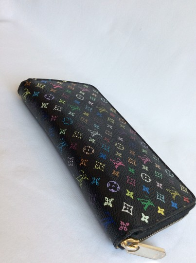 Louis Vuitton Multicolor Monogram Black Murakami zip Wallet