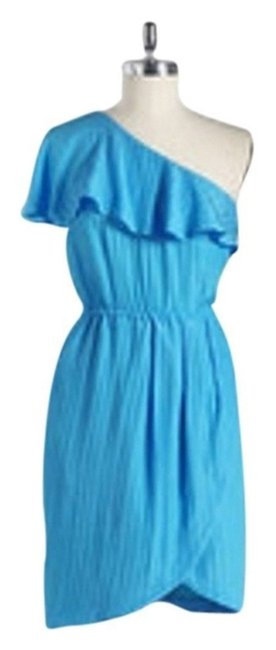 Preload https://item2.tradesy.com/images/tracy-reese-blue-frock-by-ruffled-one-shoulder-sz4-mid-length-short-casual-dress-size-4-s-22001056-0-0.jpg?width=400&height=650