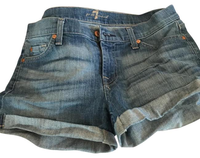 Preload https://item2.tradesy.com/images/7-for-all-mankind-blue-cuffed-shorts-size-6-s-28-22001091-0-1.jpg?width=400&height=650