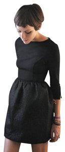 Rachel Antonoff short dress Black Longsleeve Quilted A-line on Tradesy