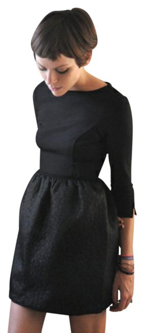 Item - Black Zaide Quilted Short Casual Dress Size 4 (S)