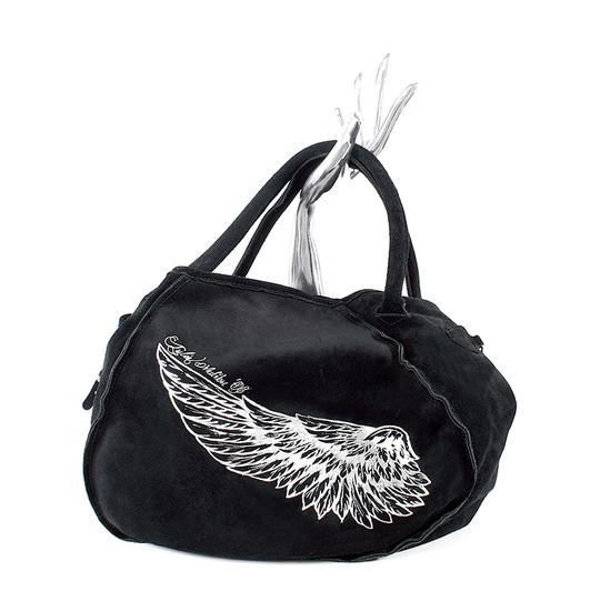 Preload https://item3.tradesy.com/images/tylie-malibu-wing-angel-wing-black-suede-leather-tote-22001232-0-0.jpg?width=440&height=440