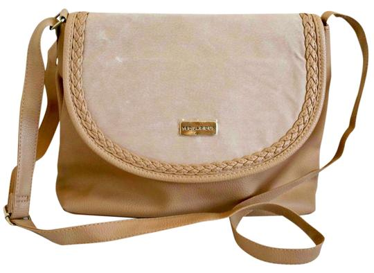 Preload https://item2.tradesy.com/images/ted-lapidus-new-suede-detail-tan-pvc-shoulder-bag-22001251-0-1.jpg?width=440&height=440