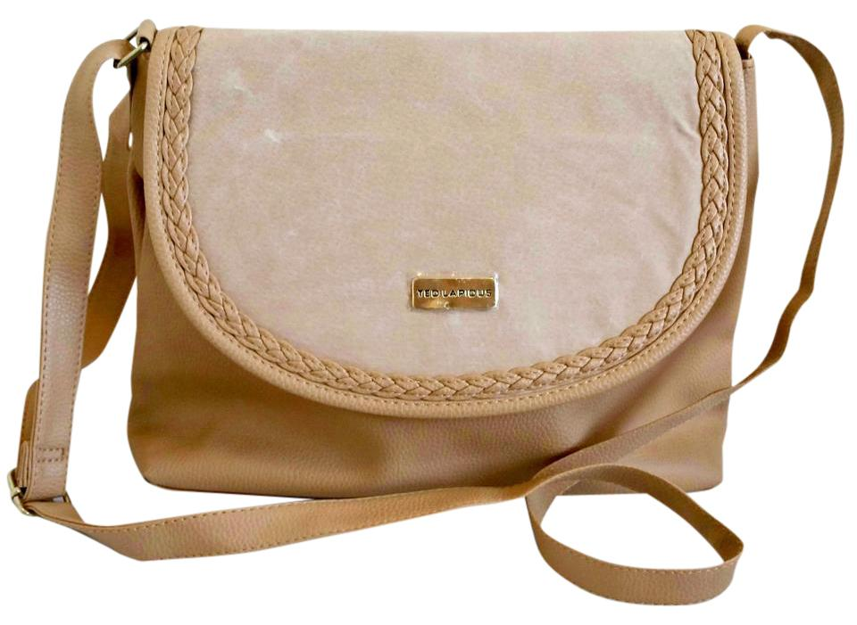 6da54fec6bb2 Ted Lapidus New Suede Detail Tan Pvc Shoulder Bag