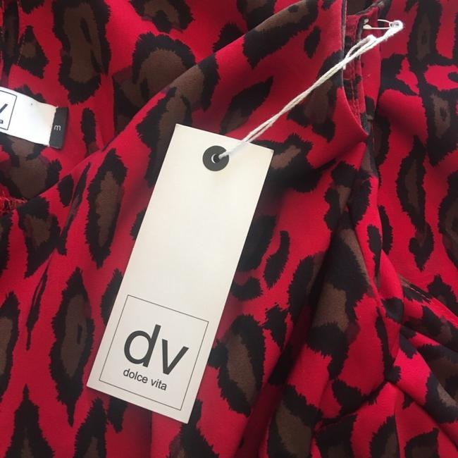 Urban Outfitters short dress red leopard on Tradesy