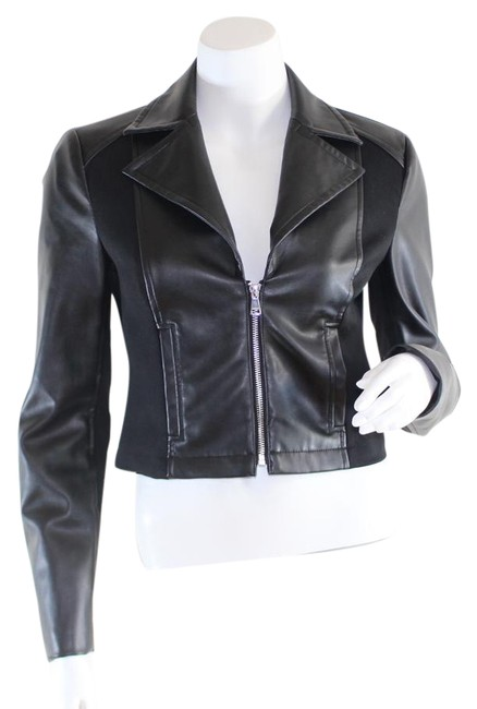 Preload https://item5.tradesy.com/images/bebe-black-faux-leather-cropped-jacket-size-2-xs-22001284-0-1.jpg?width=400&height=650