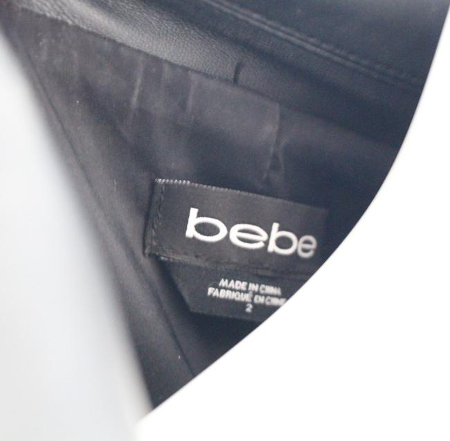 bebe Leather Faux Leather Cropped Leather Black Jacket