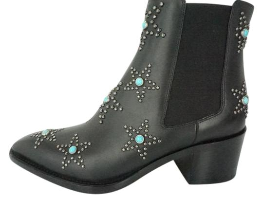 Preload https://img-static.tradesy.com/item/22001345/valentino-black-leather-turquoise-star-studded-beatle-pointy-western-ankle-bootsbooties-size-eu-37-a-0-1-540-540.jpg
