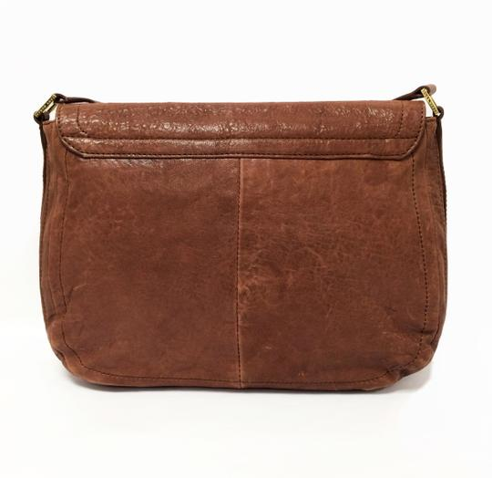 Tory Burch Leather Small Coffee Messenger Bag