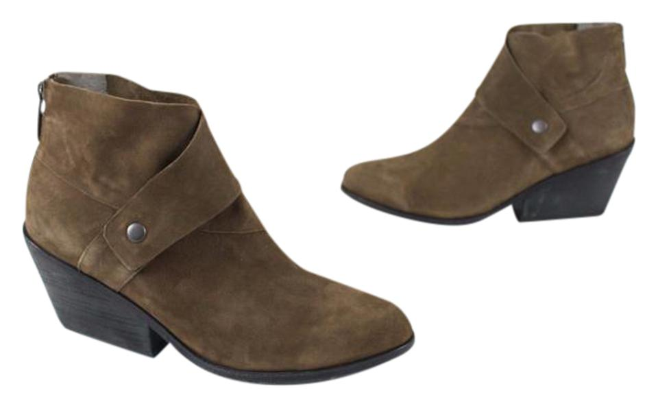 Eileen Brown Fisher Olive Tag Dark Brown Eileen Back Zipper Ankle Boots/Booties e325e1