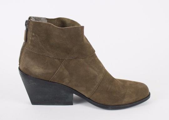 Eileen Fisher Back Zip Nubuck Olive Boots