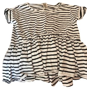 Free People T Shirt black and white