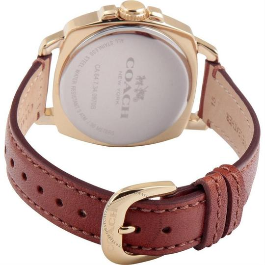 Coach Leather Strap Boyfriend Gold Crystal Dial 14502172 Image 3