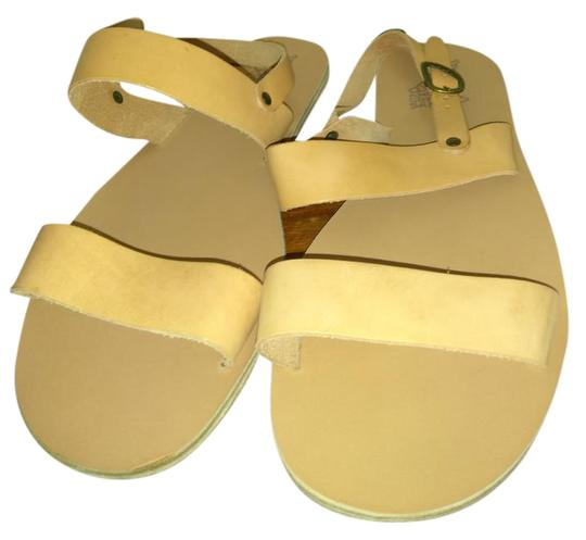 Ancient Greek Sandals Beige Sandals