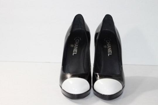 Chanel Cap Toe Black Platforms