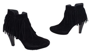 Paul Green Fringe Tassels Suede Black Boots