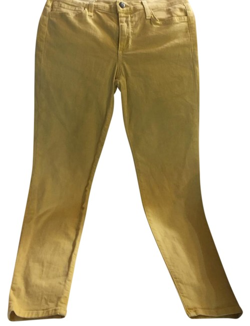 Item - Yellow Light Wash Ankle Straight Leg Jeans Size 28 (4, S)