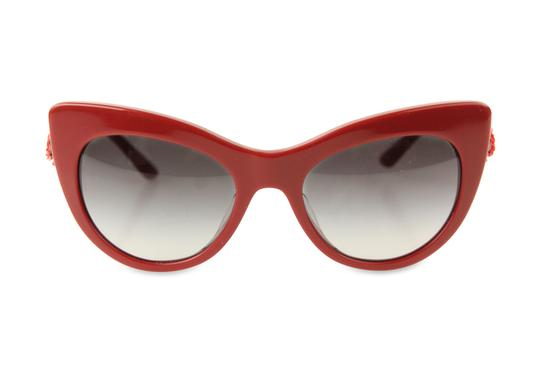 Preload https://img-static.tradesy.com/item/22001636/dolce-and-gabbana-red-embellished-cat-eye-sunglasses-0-2-540-540.jpg